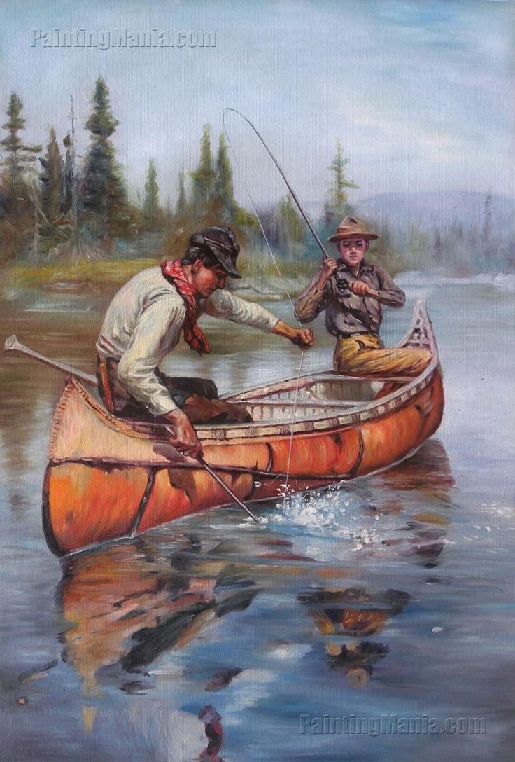 Two Fishermen in a Birch Canoe by Philip Goodwin