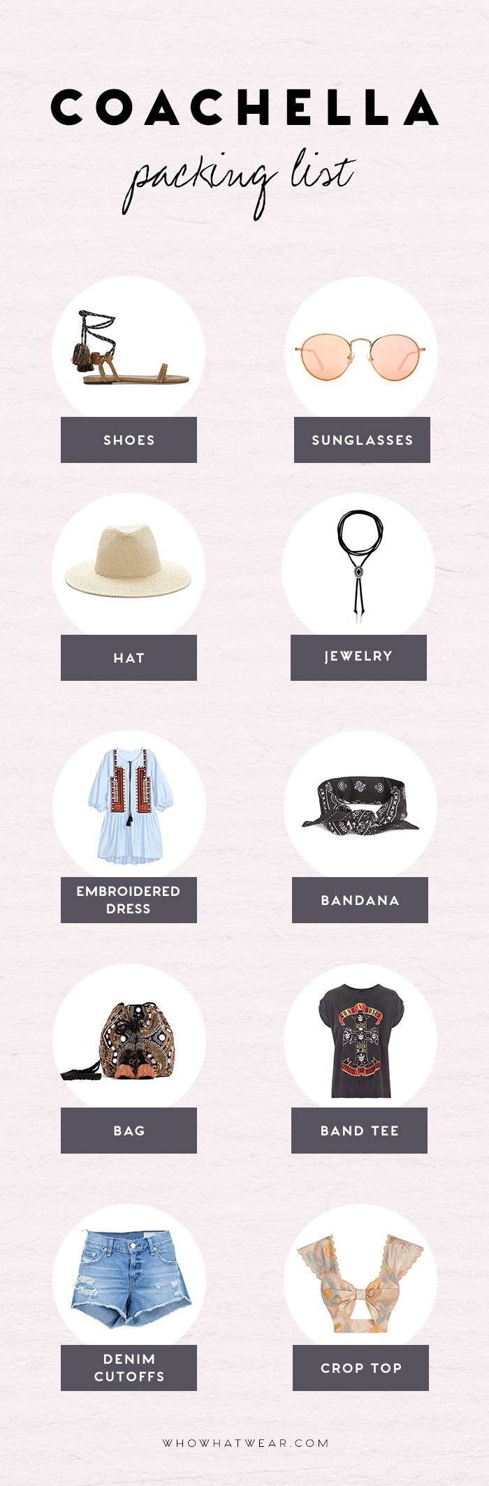 This Packing List Will Ensure You're the Most Stylish Girl at Coachella via @WhoWhatWear