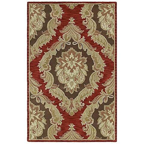 Monicaro Salsa Iii Red And Black Wool Area Rug G9704 Lamps Plus Wool Area Rugs Area Rugs Kaleen Rugs