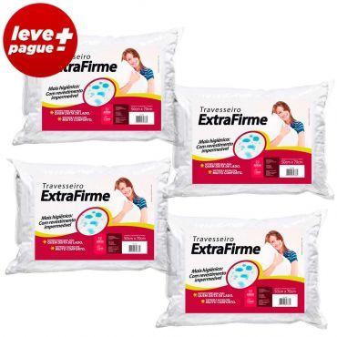 Ricardo Eletro Kit Promocional 4 Travesseiros Extra Firme Com Fibra Siliconizada - R$ 48,80