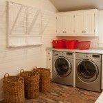 Pretty wicker laundry hamper Decorating ideas for Contemporary New York