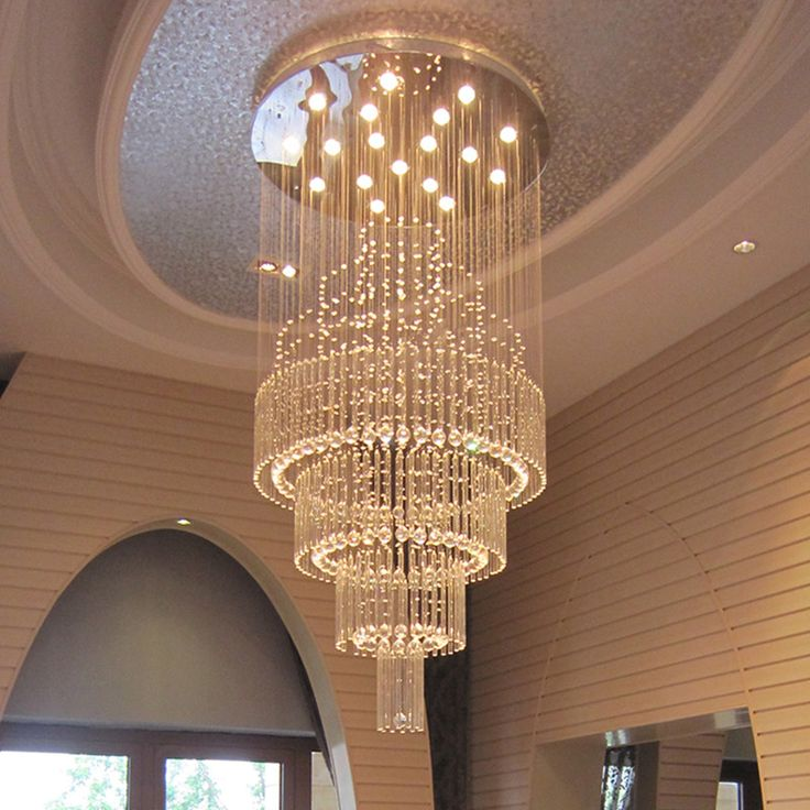 Mordern Lustre LED Crystal Chandelier Lighting Large Stair Ceiling Hanging  Lamp Living Room Villa Lobby Light Part 59
