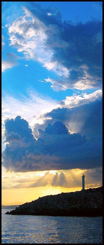 Farm #Lighthouse  - #TURKEY - Gundogan Bodrum  -  The sun trying to rise after 3 days of heavy rainfall #by Arathrim  http://dennisharper.lnf.com/