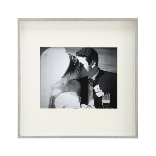 Brushed Silver 8x10 Wall Frame Reviews Crate And Barrel Frames On Wall Crate And Barrel Mirrored Picture Frames