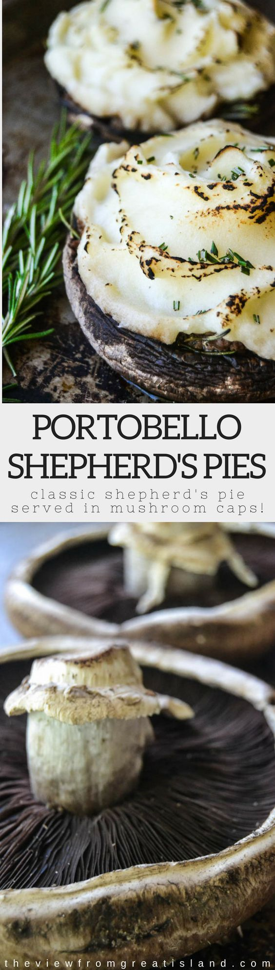 Portobello Shepherd's Pies | Posted By: DebbieNet.com