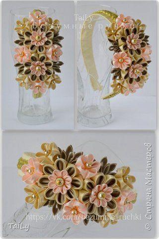 Декор предметов Украшение Цумами Канзаши Фоторамки ободки Бусины Ленты фото 3