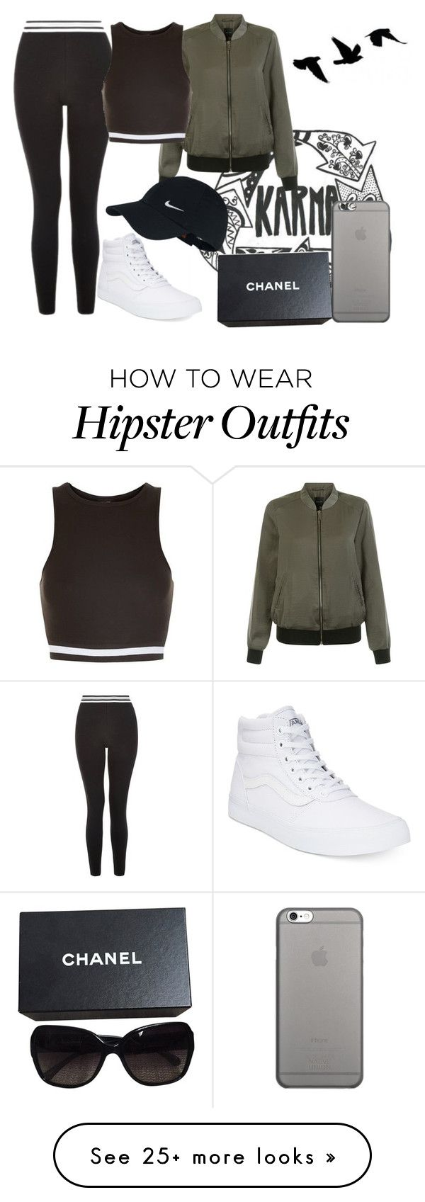 """Karma"" by zombies-are-monsters on Polyvore featuring INDIE HAIR, Vans, New Look, NIKE, Native Union and Chanel"