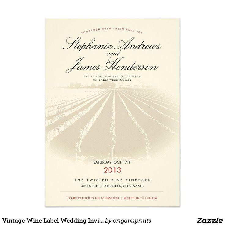 Vintage Wine Label Wedding Invitation   Decorations   Pinterest ...
