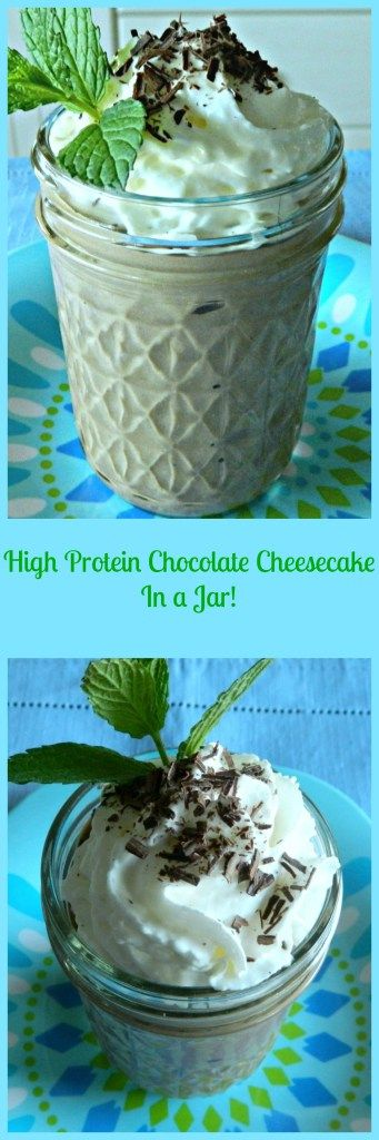 High Protein No Bake Chocolate Cheesecake In A Jar – Skinny Sweets Daily