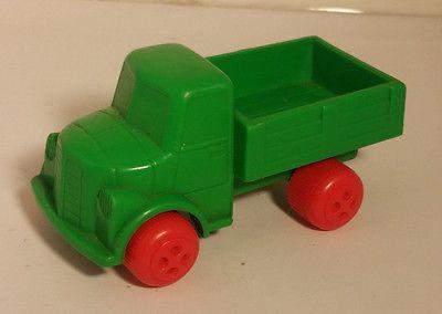 Vintage Viking Plast Sweden Green Truck Plastic
