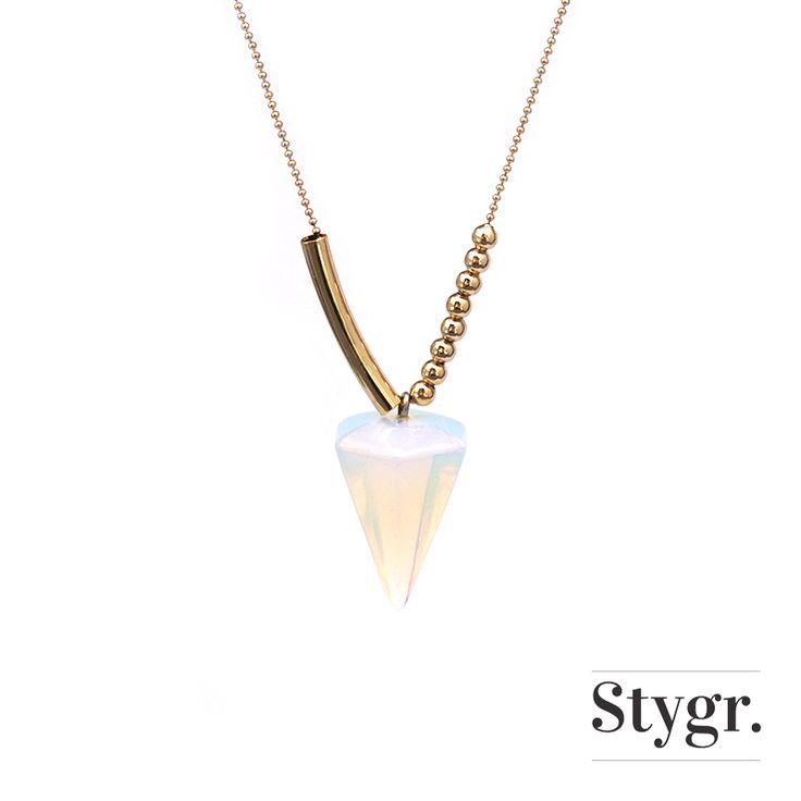 Rocking Diamond Necklace - Gold. Stygr. - Handmade Designs.   www.stygr.com