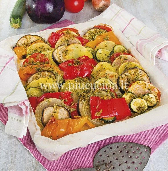 Verdure gratinate al prezzemolo