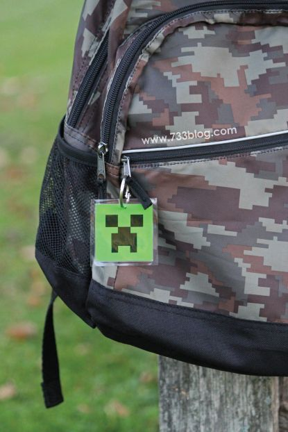seven thirty three - - - a creative blog: Minecraft Backpack Tag