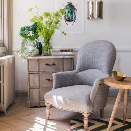 The Alfred Checked Armchair - Armchairs - Shop By Item - Sofas & Upholstery