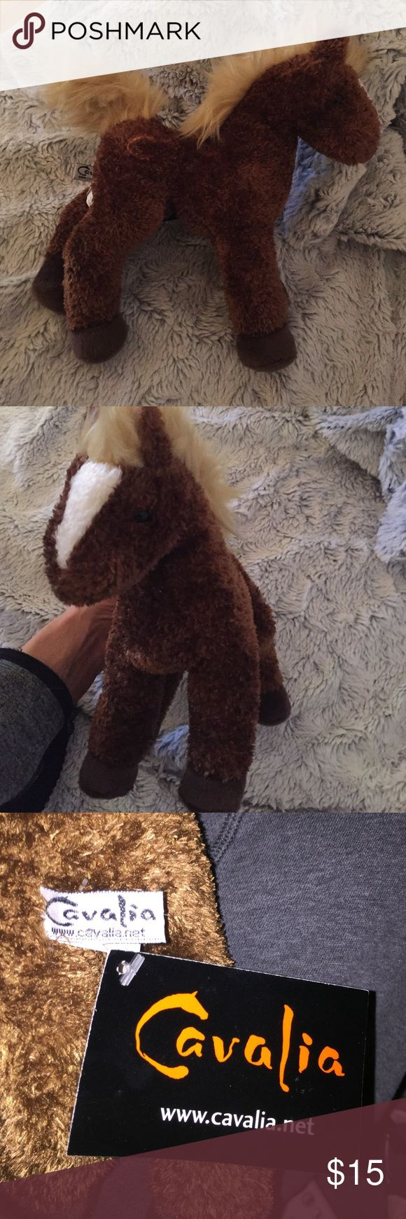 Stuffed Cavalia horse Small stuffed horse bought at the cavalia horse show. Brand new with tags. Brown and tan with white on nose. Cavalia Horse Show Other