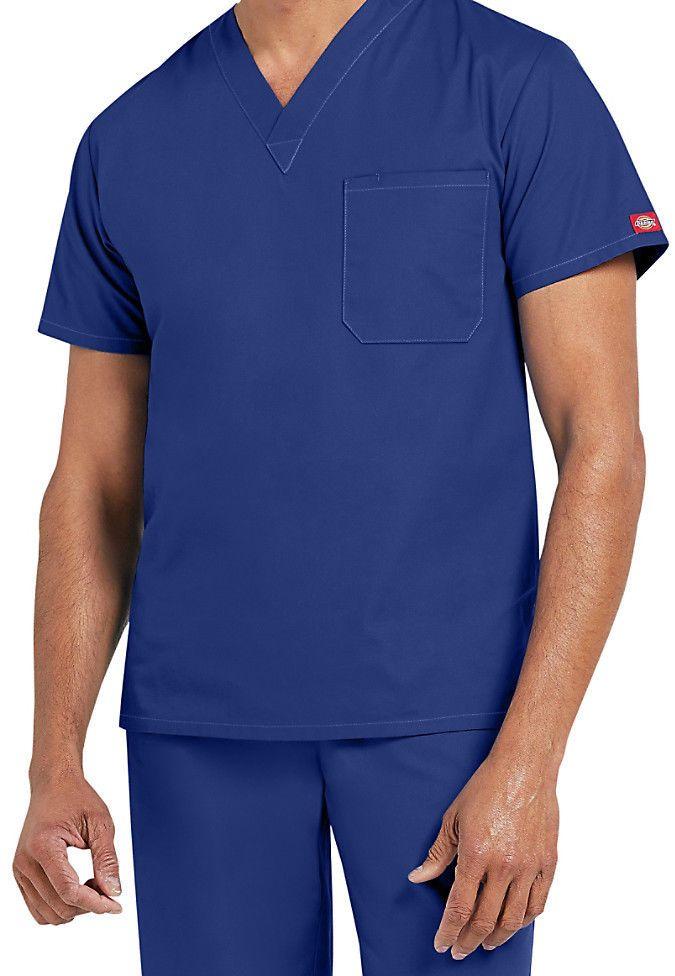 3aa394a065e Dickies Medical Men's EDS Signature Galaxy Blue One Pocket Top Sz S-4XL NWT  #Dickies