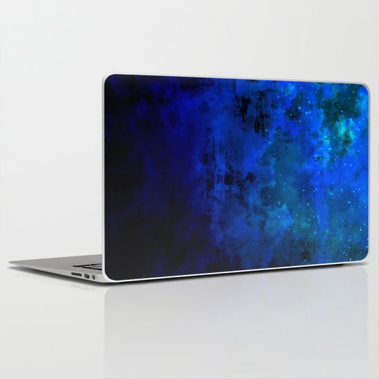 """Second Star to the Right"" Fine Art Abstract Acrylic Painting Cool iPad Skin Decal Laptop Skin Deep Indigo Navy Royal Blue Galaxy Stars cloudy night Sky by #EbiEmporium on #Society6, #colorful #fineart #ombre #midnight #blue #indigo #galaxy #comic #starrynight #stars #art #tech #techie #device #skin #decal #laptop #laptopskin #iPadskin #iPaddecal #vinylskin #techskin #cool #chic #modern #trendy #computerskin #office"