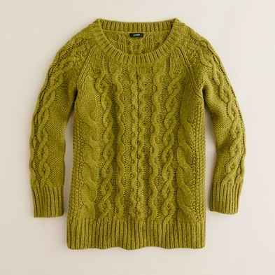 i really like how this sweater is the color of a sickly booger. $79.50