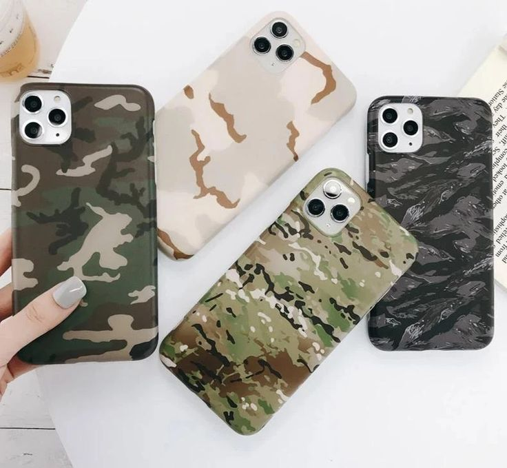 Soft army green camouflage phone case for iphone 11 pro