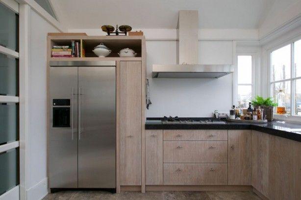 Linkerzijde amerikaanse koelkast ge ntegreerd - Ikea kitchenette frigo ...
