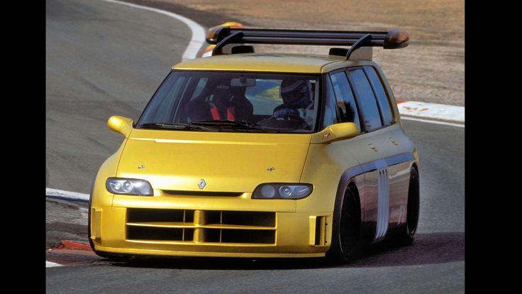 Le Renault Espace F1 Concept (1994) est une vision extrême du monospace avec un moteur de Formule 1 de 820 chevaux !