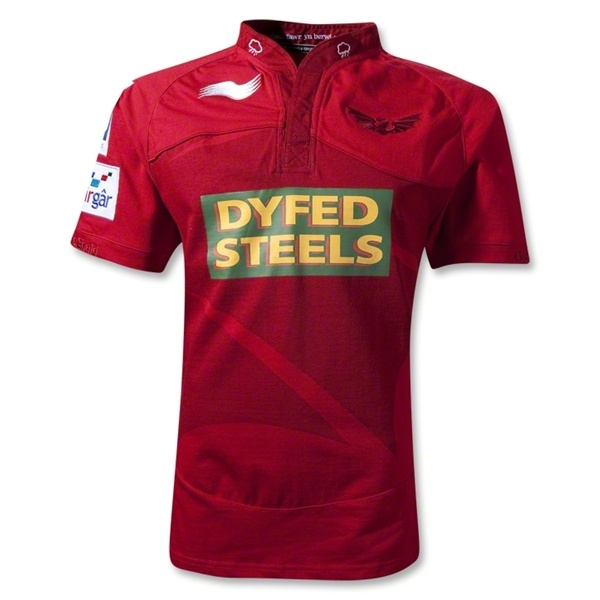 Scarlets 2012 Home SS Rugby Jersey