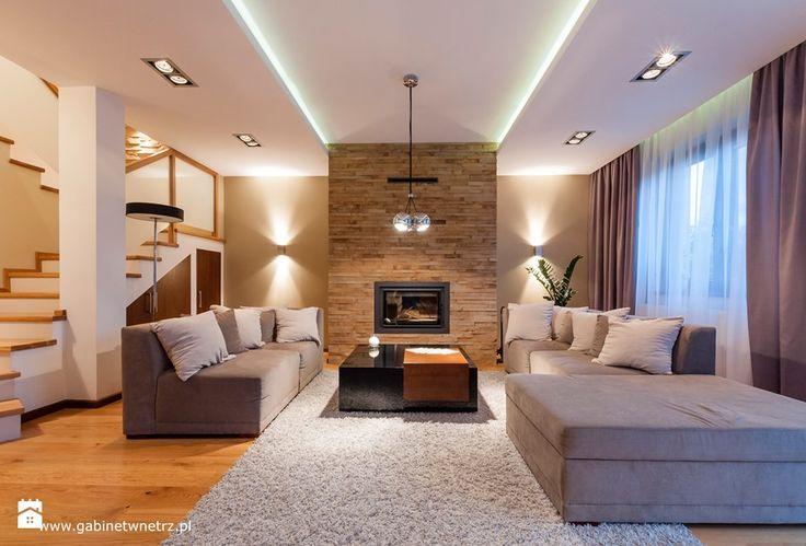 Segment w Pruszkowie - Duży salon, styl nowoczesny - zdjęcie od Gabinet Wnętrz - Recepta na dobre wnętrze