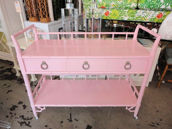 FAUX BAMBOO Cart...So PRETTY in PINK :)