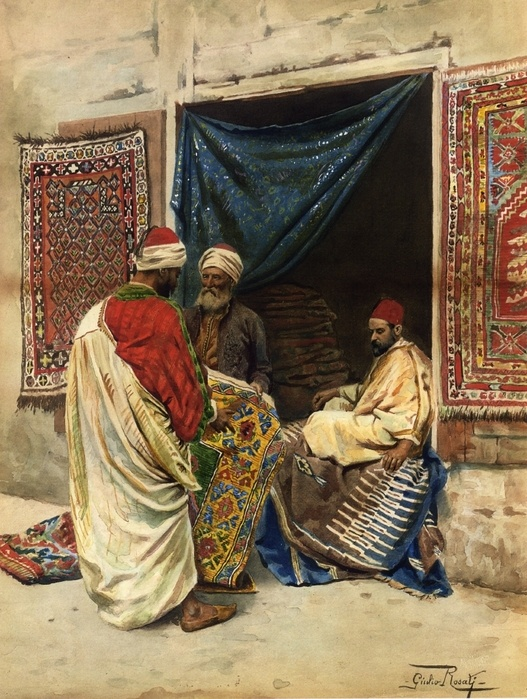 "Giulio Rosati  ""The carpet merchant"""
