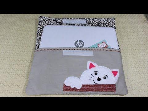 Capa notebook, bordada - YouTube