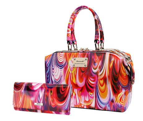 Serenade Rainbow Set Classic Doctor Bag and Wallet set SH987663 WSH98-02 Patent Leather absolutely stunning Just when you think you had seen it all ... Serenade releases the