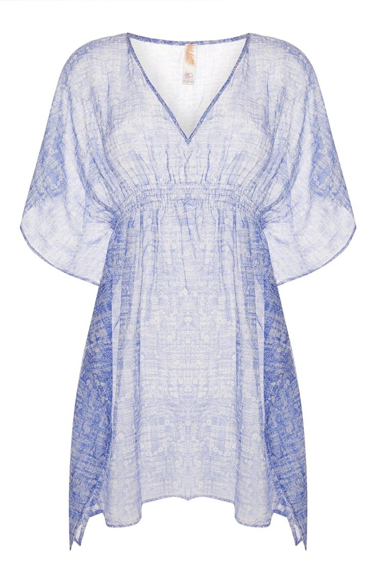 Primark - Blue Printed Cover Up