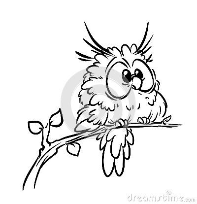 Bird owl coloring pages by Catherine Chernyakova, via Dreamstime