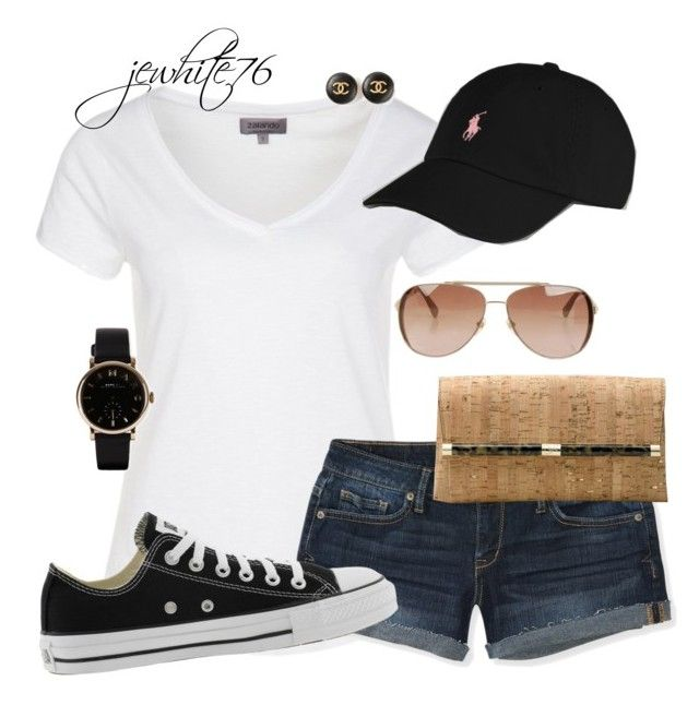 """""""Casual Cute"""" by jewhite76 ❤ liked on Polyvore featuring Zalando, Ralph Lauren, Aéropostale, Converse, Diane Von Furstenberg, MICHAEL Michael Kors, Chanel and Marc by Marc Jacobs"""