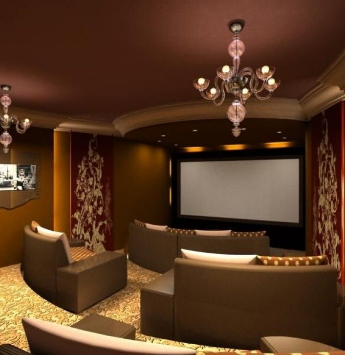 Outstanding Incredible Home Theater Seating Design Ideas