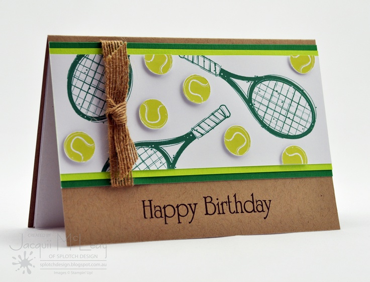 8 best sports tennis images on pinterest cricut cards happy splotch design jacquii mcleay stampin up boys tennis birthday card m4hsunfo Choice Image