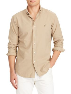 87d91b88 POLO RALPH LAUREN CLASSIC-FIT COTTON BUTTON-DOWN SHIRT. #poloralphlauren  #cloth #
