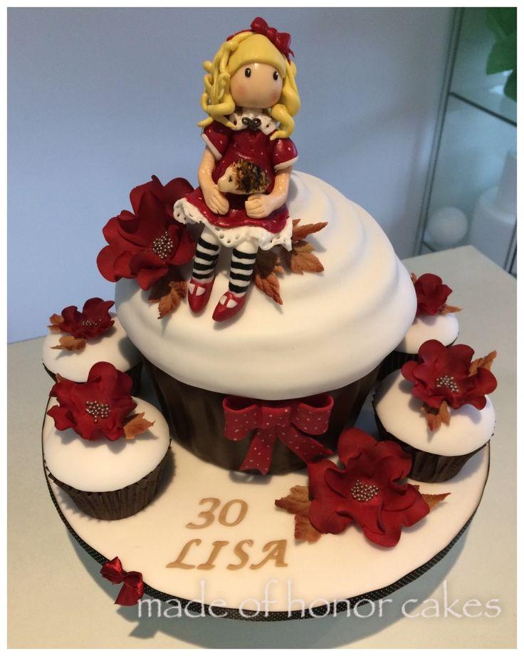 'Gorjuss' themed giant cupcake