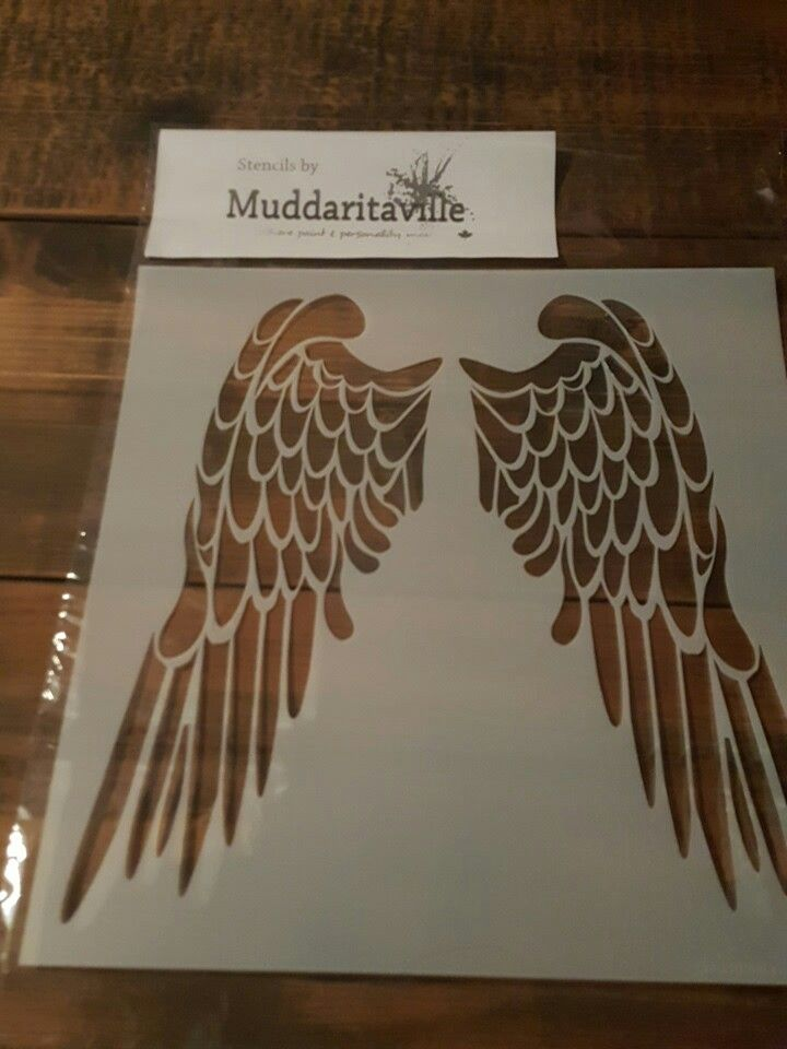 If anyone is looking for Angel wings stencils you have to check her website I just received mine , and love it! Muddaritaville Studio http://muddaritavillestudio.com/