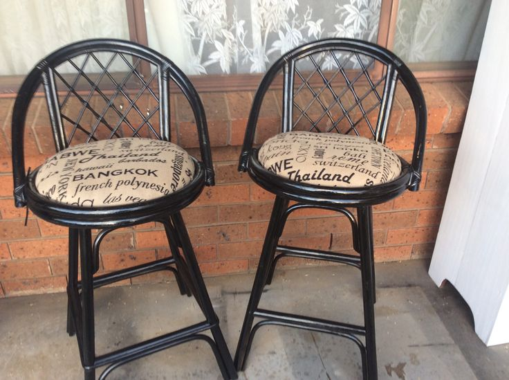 Up cycled old wicker chairs revamped