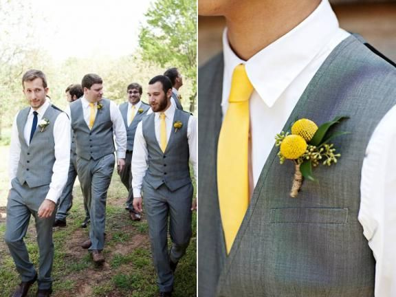 Lemon, Charcoal, Navy Rustic Real Wedding: Hannah and Marc