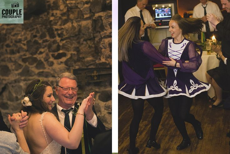The Irish dancers show how it's done! Wedding in The Abbey Tavern, Howth. Photographed by Couple Photography.