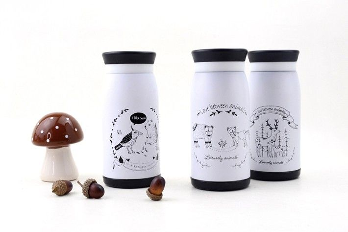 Cartoon Stainless steel insulation Cup (350ml)