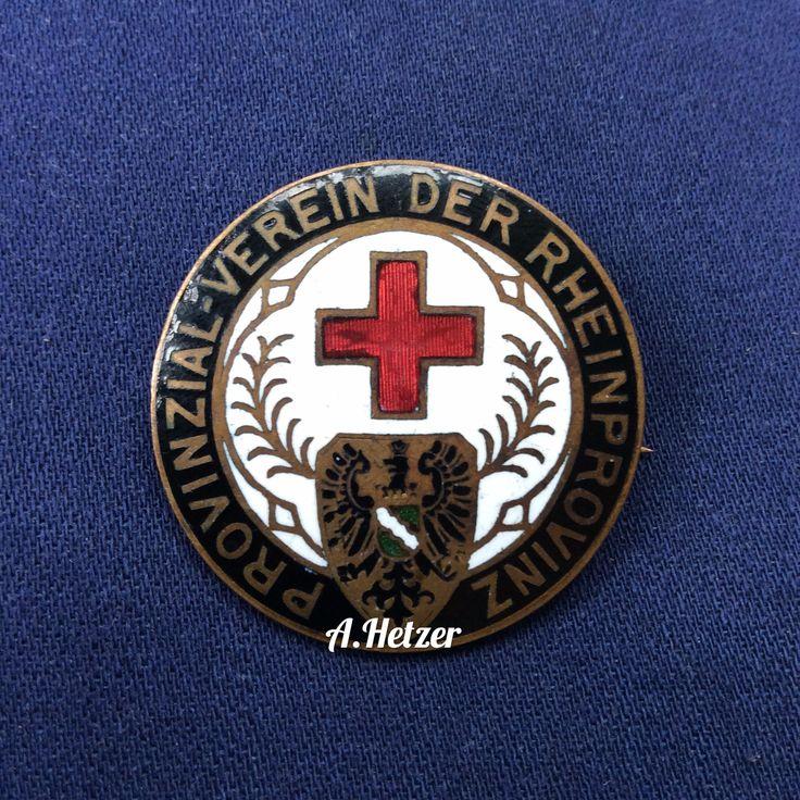 #drk Deutsches Rotes Kreuz badge of Provinzial-Verein der Rheinprovinz #faleristics #фалеристика