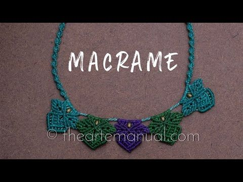 tutorial paso a paso collar en macrame - YouTube