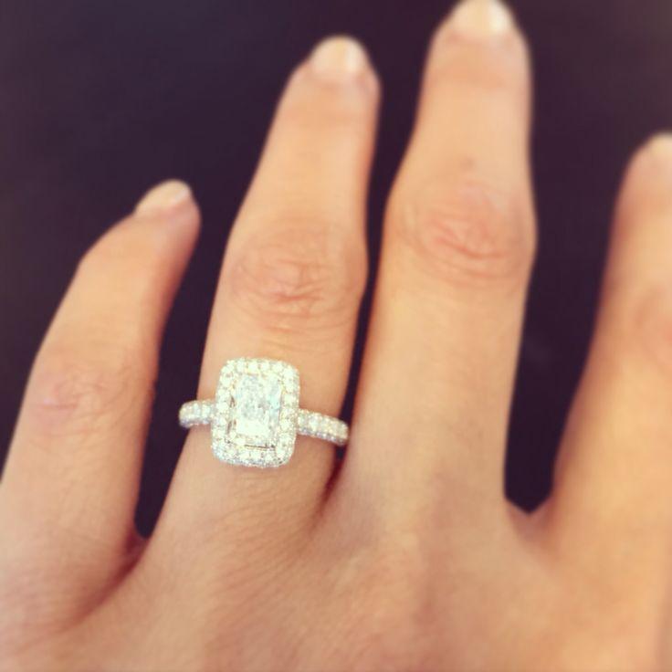 Best 25 Rectangle Engagement Rings Ideas On Pinterest