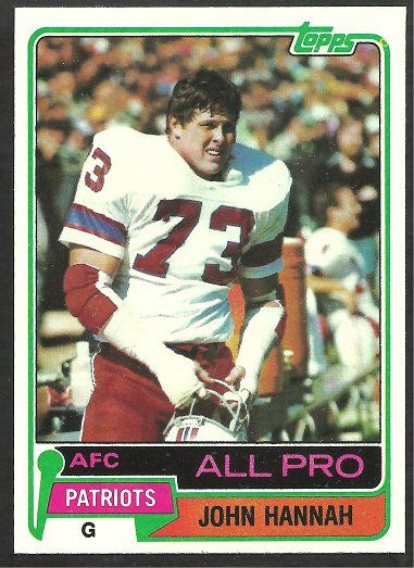 New England Patriots John Hannah 1981 Topps Football Card # 80 nr mt