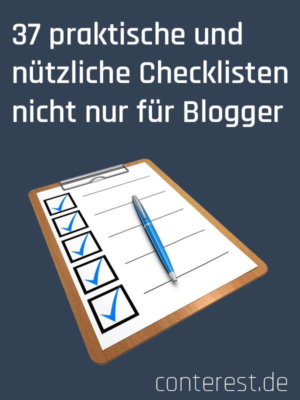 37 praktische und nützliche Checklisten für Blogger & Seitenbetreiber