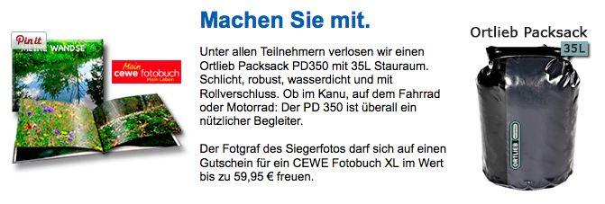 Im Juni können Sie bei uns einen praktischen Packsack von Ortlieb gewinnen. Ein toller Begleiter für Ausflüge in die Natur. http://www.nabu-fotoclub.de/gewinnspiel