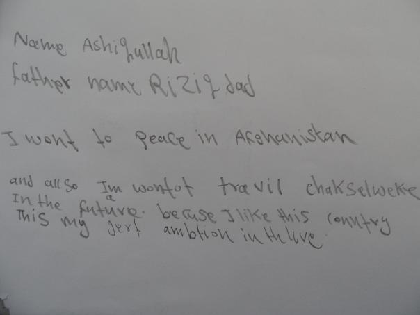 Ashuqullah Abdul Raziq nám napísal odkaz, že by chcel navštíviť Československo
